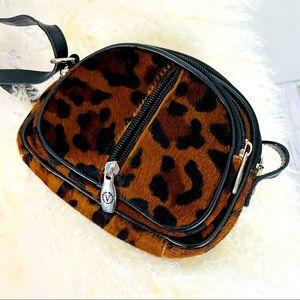 Valentina mini crossbody leopard bag